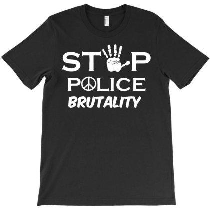 Stop Police Brutality T-shirt Designed By Enjang