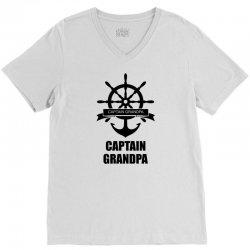Captain Grandpa V-Neck Tee   Artistshot
