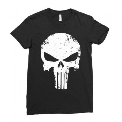 The Punisher Skull Ladies Fitted T-shirt Designed By Constan002