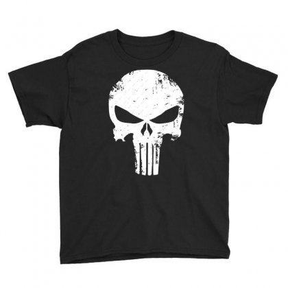 The Punisher Skull Youth Tee Designed By Constan002