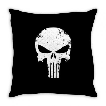 The Punisher Skull Throw Pillow Designed By Constan002