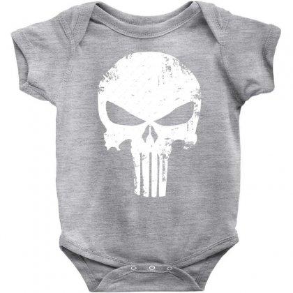 The Punisher Skull Baby Bodysuit Designed By Constan002