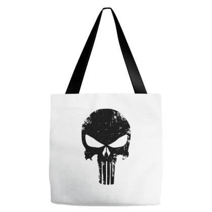 The Punisher Skull Black Tote Bags Designed By Constan002