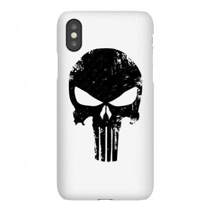 The Punisher Skull Black Iphonex Case Designed By Constan002