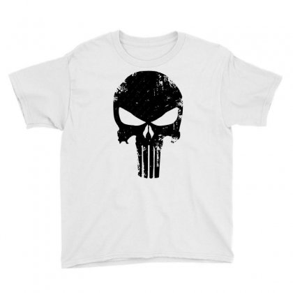 The Punisher Skull Black Youth Tee Designed By Constan002