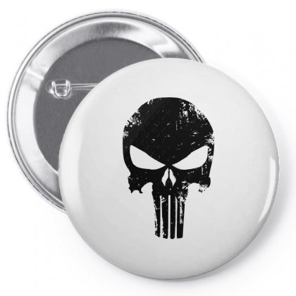 The Punisher Skull Black Pin-back Button Designed By Constan002