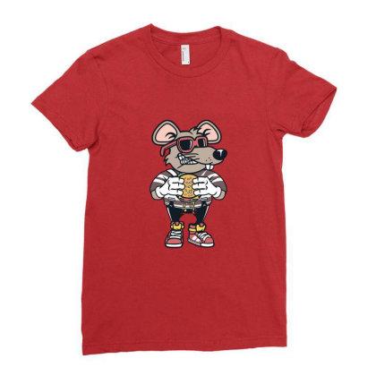 Rat Burglar Ladies Fitted T-shirt Designed By Hortoner