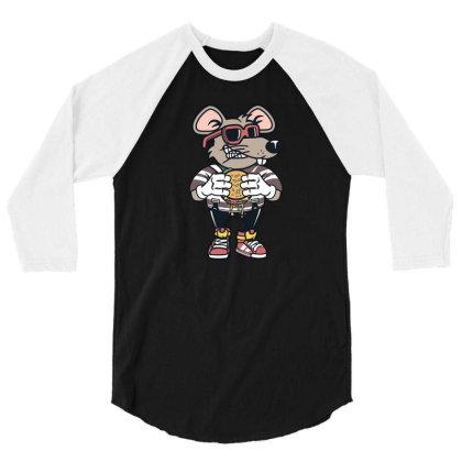 Rat Burglar 3/4 Sleeve Shirt Designed By Hortoner