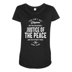 Justice Of The Peace Job Title Gift Maternity Scoop Neck T-shirt | Artistshot