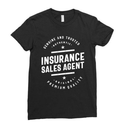 Insurance Sales Agent Job Title Gift Ladies Fitted T-shirt Designed By Cidolopez