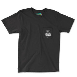 Justice Of The Peace Job Title Gift Pocket T-shirt Designed By Cidolopez