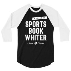 Sports Book Whiter Job Title Gift 3/4 Sleeve Shirt | Artistshot