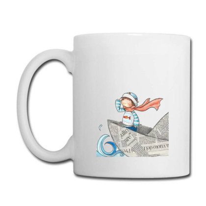 Girl On Newspaper Boat Coffee Mug Designed By Coşkun