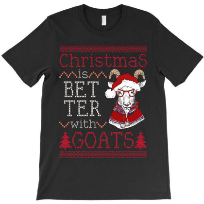 Christmas Is Better With Goats T-shirt Designed By Hoainv