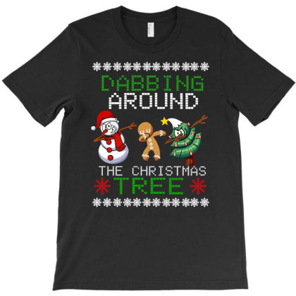 Dabbing Around The Christmas Tree T-shirt Designed By Hoainv