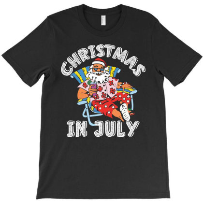 Christmas In July Santa Claus Funny T-shirt Designed By Hoainv