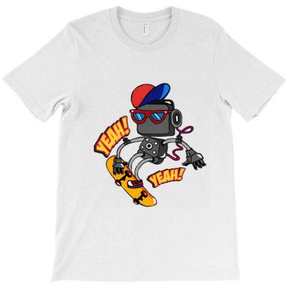 Robot Skater T-shirt Designed By Artby_shikha