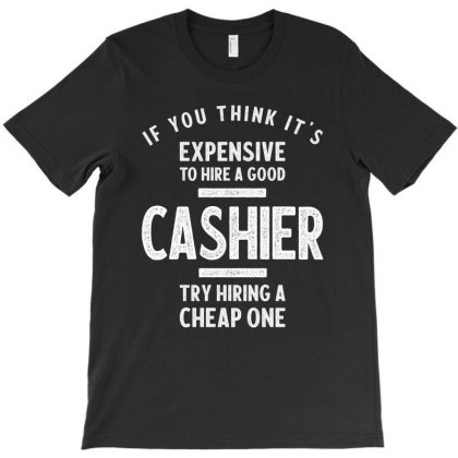 Mens Womens Funny Cashier Shirts T-shirt Designed By Cidolopez