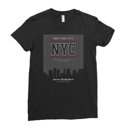 Nyc Ladies Fitted T-shirt Designed By Wiraart