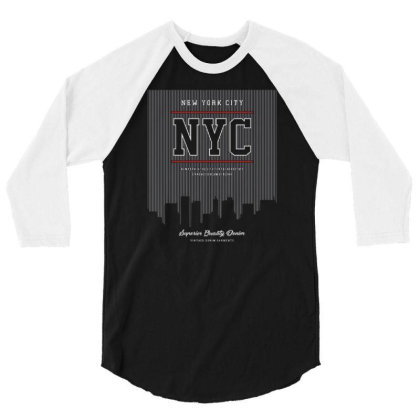 Nyc 3/4 Sleeve Shirt Designed By Wiraart