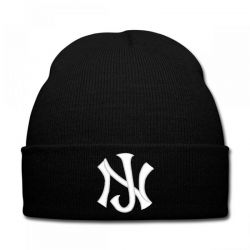 New Jersey Logo Embroidery embroidered hat Knit Cap | Artistshot