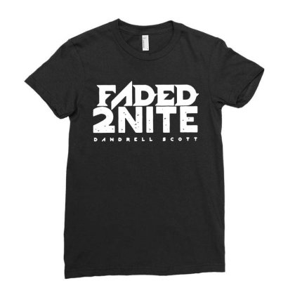 Faded 2nite Ladies Fitted T-shirt Designed By Toldo