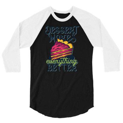 Piece Of Cake 3/4 Sleeve Shirt Designed By Wiraart