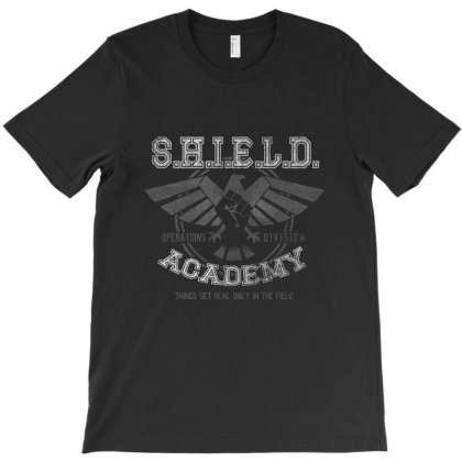 Shield Academy T-shirt Designed By Coxer