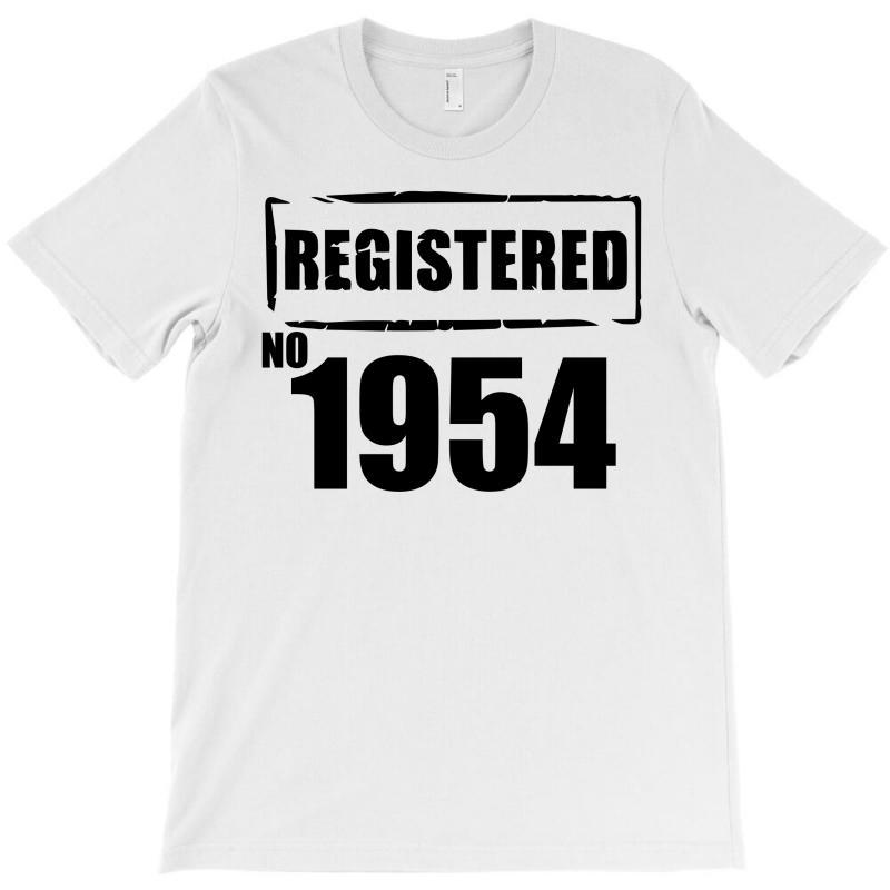 Registered No 1954 T-shirt | Artistshot