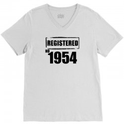 registered no 1954 V-Neck Tee | Artistshot