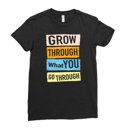 Quote Ladies Fitted T-shirt Designed By Wiraart