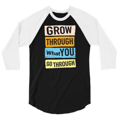 Quote 3/4 Sleeve Shirt Designed By Wiraart