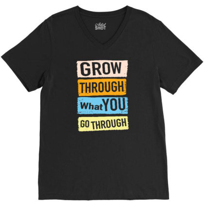 Quote V-neck Tee Designed By Wiraart