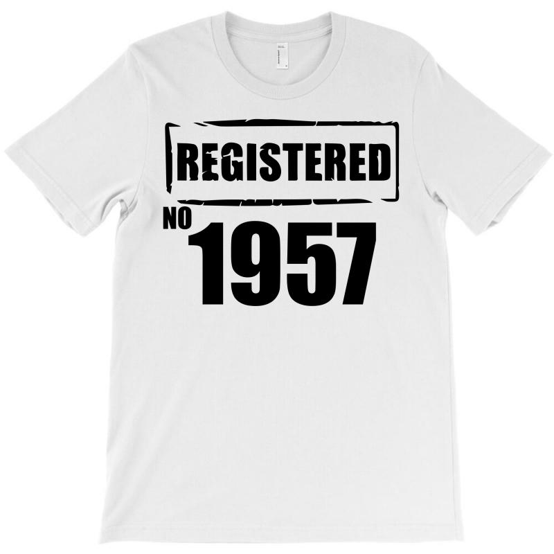 Registered No 1957 T-shirt | Artistshot