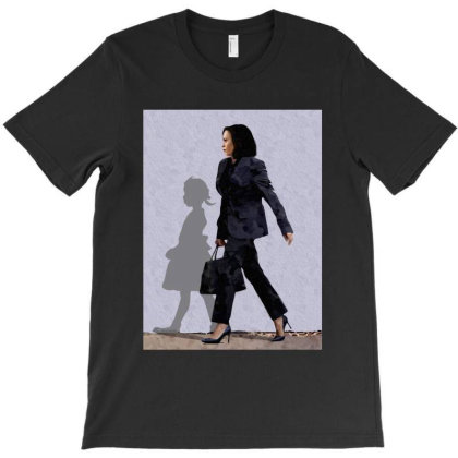 The Walking Hope, Madam Vice President   Kamala Harris And Shadow T-shirt Designed By Coolstars