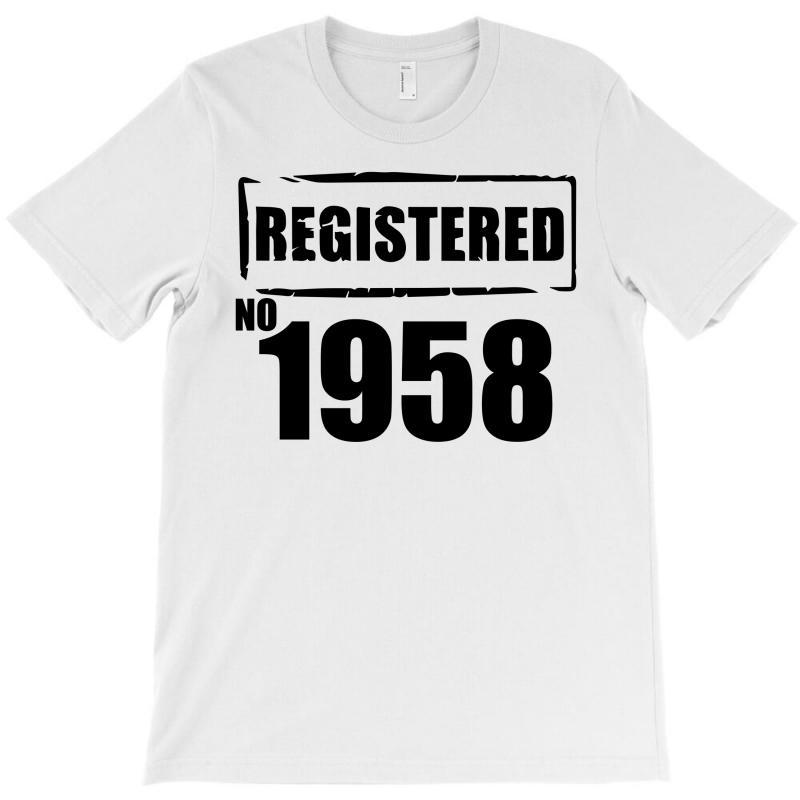 Registered No 1958 T-shirt   Artistshot