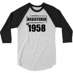 registered no 1958 3/4 Sleeve Shirt   Artistshot