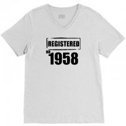 registered no 1958 V-Neck Tee   Artistshot