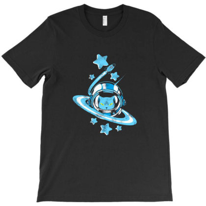 Space Cat T-shirt Designed By Mildred