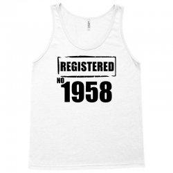 registered no 1958 Tank Top   Artistshot