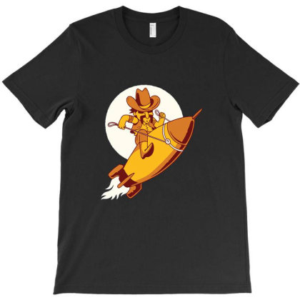 Space Cowboy T-shirt Designed By Mildred