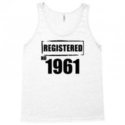 registered no 1961 Tank Top | Artistshot