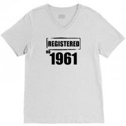 registered no 1961 V-Neck Tee | Artistshot