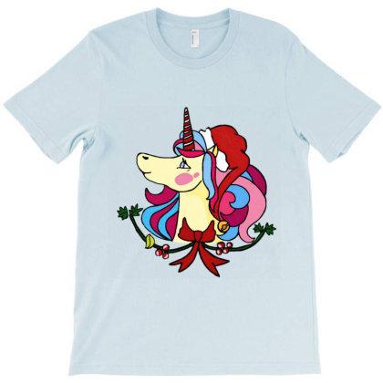 Christmas Unicorn T-shirt Designed By Artby_shikha