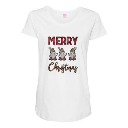 Merry Christmas Maternity Scoop Neck T-shirt Designed By Akin