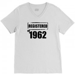 registered no 1962 V-Neck Tee | Artistshot
