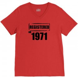 registered no 1971 V-Neck Tee | Artistshot