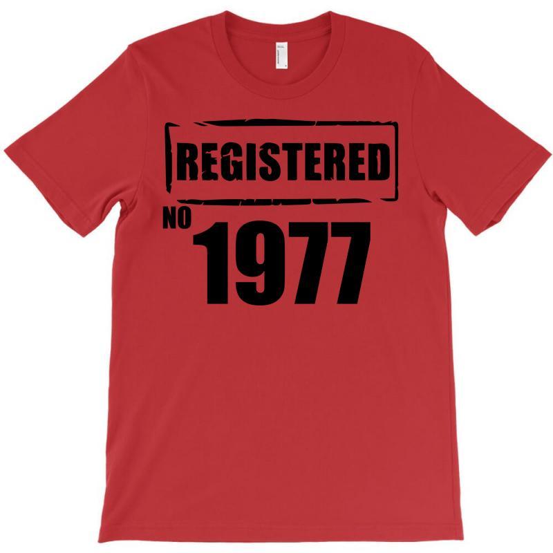 Registered No 1977 T-shirt   Artistshot