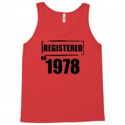registered no 1978 Tank Top | Artistshot