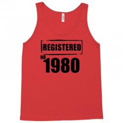 registered no 1980 Tank Top | Artistshot